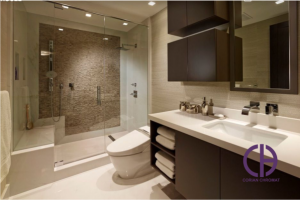 دکوراسیون سرویس بهداشتی، وان حمام کورین، روشویی کورین، روشویی کوارتز