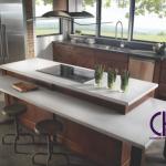کانتر کورین، کانتر کوارتز، دکور آشپزخانه، رویه کابینت کورین