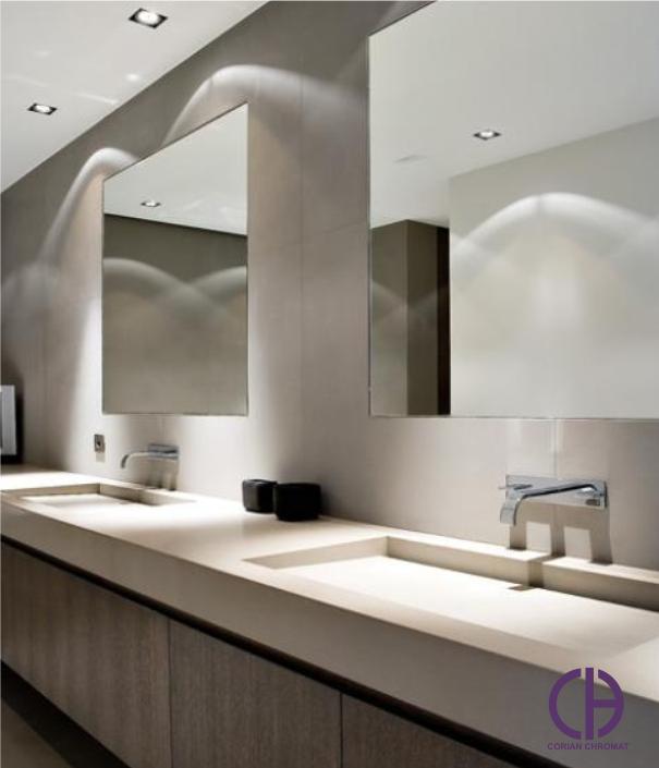 سرویس بهداشتی مدرن، کورین برای حمام، روشویی کورین، کانترتاپ حمام کورین