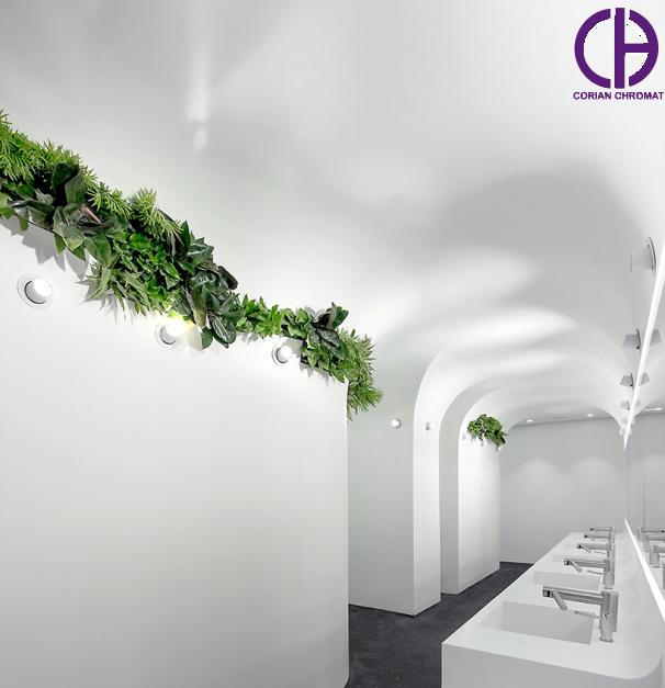 سرویس بهداشتی کورین، دیوارپوش کورین، روشویی یکپارچه کورین