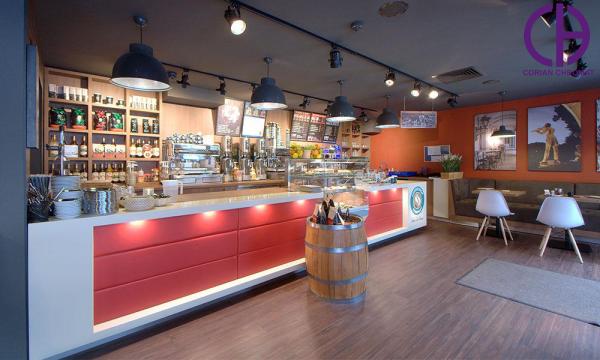 دکوراسیون رستوران، کورین هانکس، طراحی داخلی رستوران