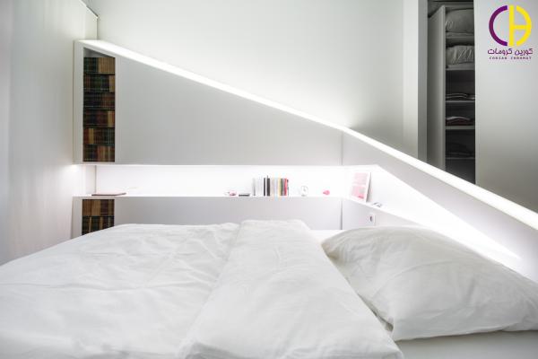 طراحی دکوراسیون اتاق خواب ، تختخواب کورین