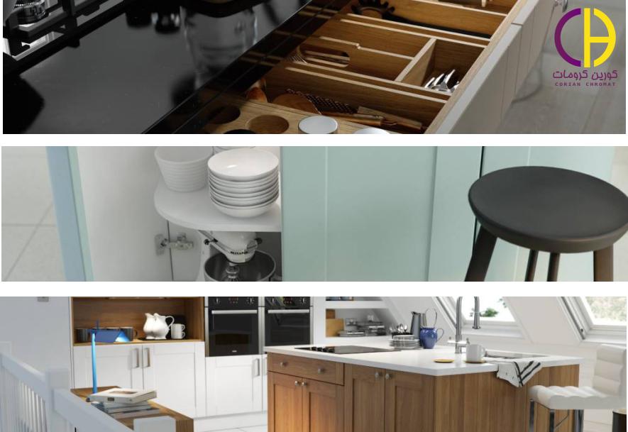 جزیره آشپزخانه ، کورین ، صفحه روی کابینت کورین