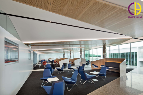 طراحی داخلی یک فرودگاه با استفاده از کورین ، میز کورین