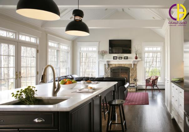 8 مدل جزیره چشم نواز به رنگ سیاه ، دکوراسیون آشپزخانه